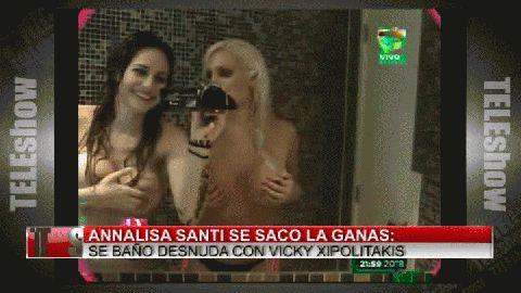 Annalisa Santi Se Sac Las Ganas Ba Desnuda Con Vicky