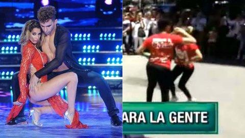Cinthia Fernández y Gabo Usandivaras bailaron en Corrientes y Florida