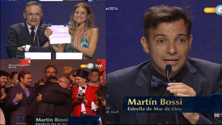 Martín Bossi ganador del Premio Estrella de Mar