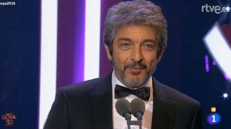 Ricardo Darín recibió el Goya a Mejor Actor por su papel en Truman