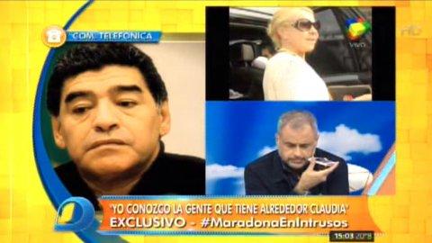 Diego Maradona habló en Intrusos